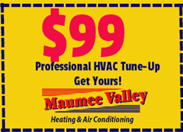 Air Conditioning or Furnace Service Coupon for HVAC service from Maumee Valley Heating & Air Conditioning.