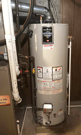 Water heater tank replacement, with high efficient Bradford White hot water heater
